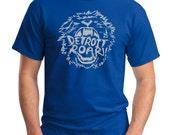 Detroit Lions Roar!! Screen Print T-Shirt Royal Shirt, Sizes S-5XL Great Gift for Lions Football Fans