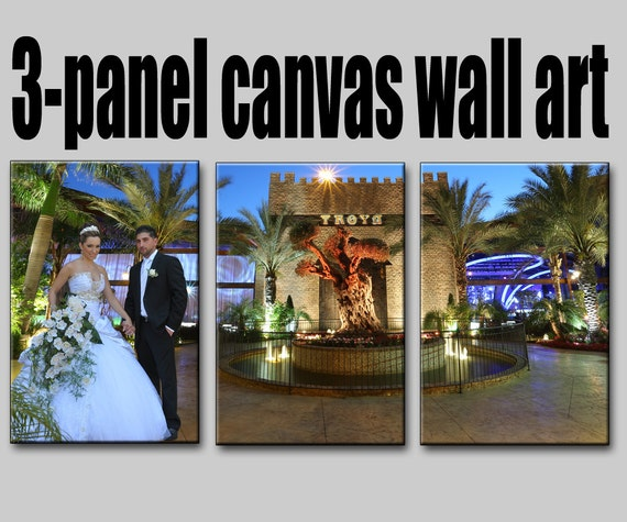3-panel custom canvas Wall Art from your photos
