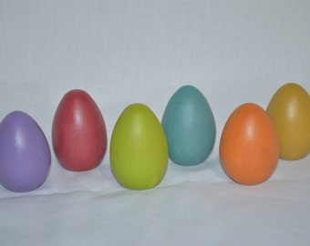 Colorful Wooden Eggs