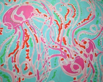 "Lilly Pulitzer fabric~2014 ~JELLIES BE JAMMIN~  100% cotton poplin 14"" by 1 4"""