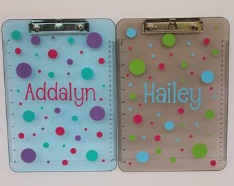 Personalized Clipboard / Monogrammed Polkadot / Polka Dot Clipboard - Great Teacher gift!