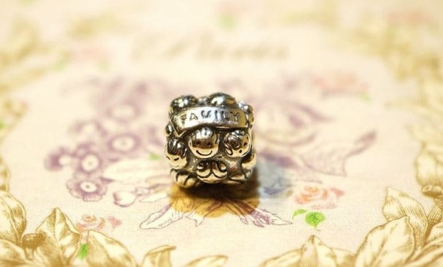 Pandora Charm sterling silver LOVE AND FAMILY