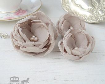 Oyster Hair Flower - Oyster Hair Clip - Oyster Bridesmaids - Oyster Flower Girls - Hair Flowers - Oyster Wedding - Oyster Flower Brooch