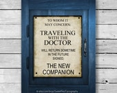The New Companion Tardis Telephone Panel Doctor Who Inspired Art Print - 8x10