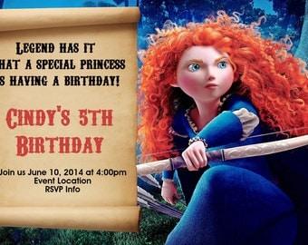 Brave Birthday Invitation - Brave Invitation - Brave Invite - Printable Invitation - Digital