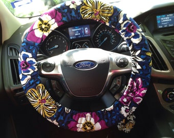 steering wheel cover vera bradley african violet. Black Bedroom Furniture Sets. Home Design Ideas
