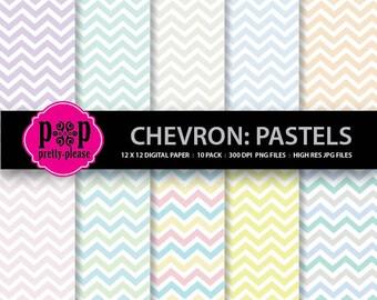 Chevron Paper   Chevron Digital Paper   Chevron Pastel Colors   Chevron Multi Color Digital Paper   Zig Zag Paper   Premade Paper