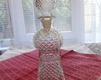 Crystal Vintage Glass Bottle, Glass Decanter, Garafe, Home Decoror