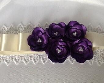flower girl sash- bridal sash- flower girl sash