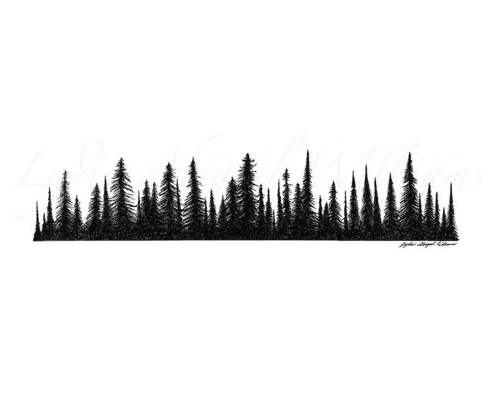 Gallery For gt Treeline Silhouette