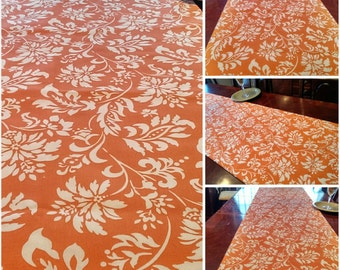 Fall TableRunner, Autumn Harvest TableLinen Bed Runner, Buffet/DresserScarf, Thanksgiving Tacloth/Overlay,Dining/Reception/Banquet 16x90 ble