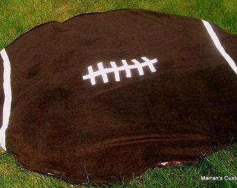 Custom Adults Football Shaped Handmade Fleece Blanket