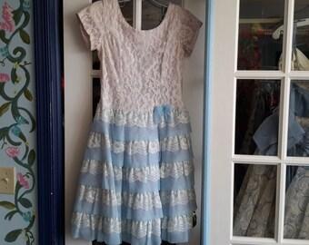 1950s vintage lace party dress!!!