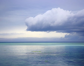 Ocean Cloudy Sunset Blue Sea Phillipines Art Photography