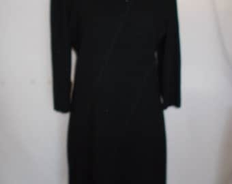 Vintage black dress by Peter Barron Little Black Pencil Wiggle Dress size Medium UK 12