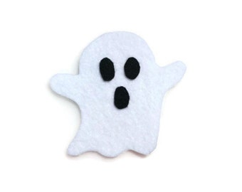 Ghost Iron On Patch - No Sew - Felt