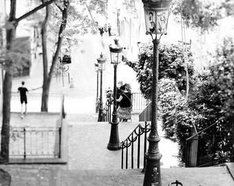 Paris Wall Art, Black and White, Montmartre, Paris Print, Paris Photography, Art Prints, Fine Art Photograph, Paris, Office Decor