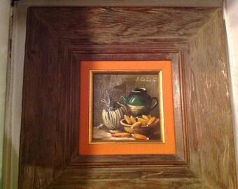 Pair of Still life oil paintings by Calastrini