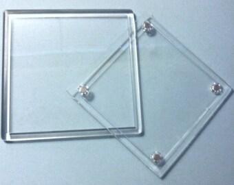 Display 4  Zentangle® tiles with these acrylic coasters (set of 4)