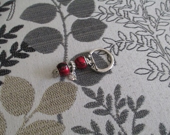 Key ring-Red and black.