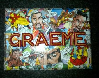 Name Plaque, Personalised, One-of-a-Kind, Marvel, Superhero, Custom