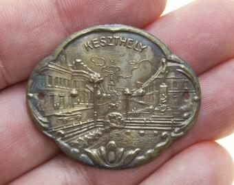 Rare Antique Keszthely Stocknagel Walking Stick Badge