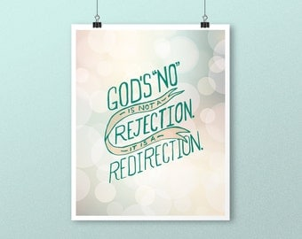 INSTANT DOWNLOAD God's No Inspirational Digital Download Print