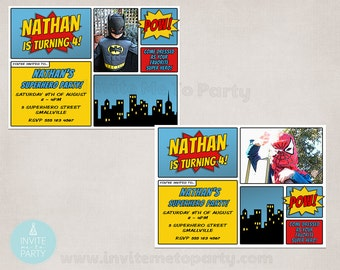 Comic Invitation / Superhero Invitation