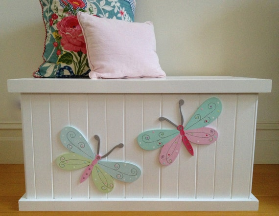 Toy Box Butterfly Girls Toy Box Toy Chest By