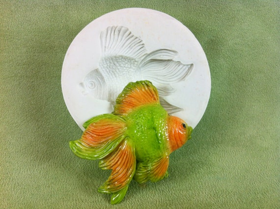 Tropical fish 1 silicone mold for fondant gumpaste for Susan s fish and chips