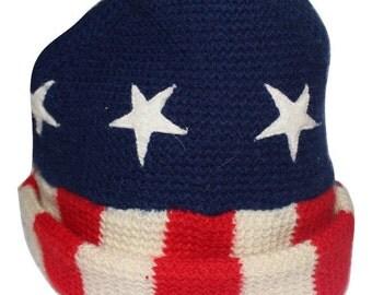 AMERICAN FLAG Stars & Stripes Beanie / One Size