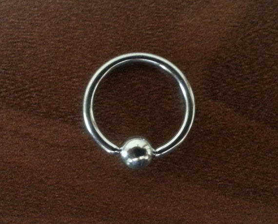 12g septum 7 16 captive bead ring by bloodlotus on etsy