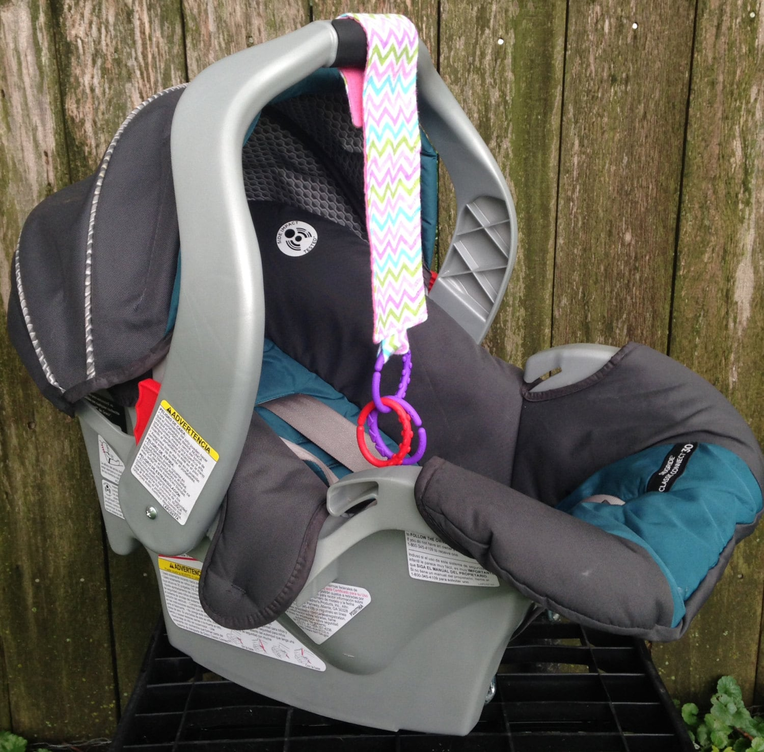 Pink Purple Blue Green Chevron Car Seat Toy Ages 3 By