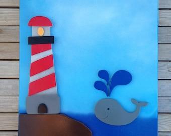 Nautical Theme Wall Art - Child's Room, Nursery