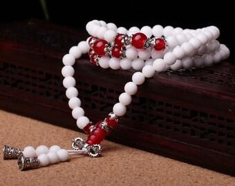 Wholesale Natural Crystal Agate/Chalcedony 108 Bracelets-WEN38738113923-CLR
