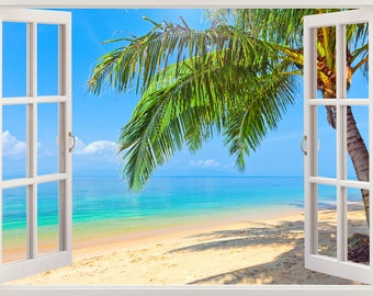Wall decals murals etsy for Beach wall mural decals