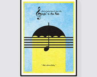 Singin' in the Rain Minimalist Alternative Movie Print & Poster