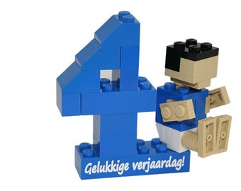 Personalised lego® number with figure