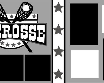 "Scrapbook 2 Page Kit ""Lacrosse"""