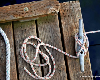 8x10 Nautical decor  // Nautical boat ropes // Beach house Photography // Nautical Photography// Boat Ropes //
