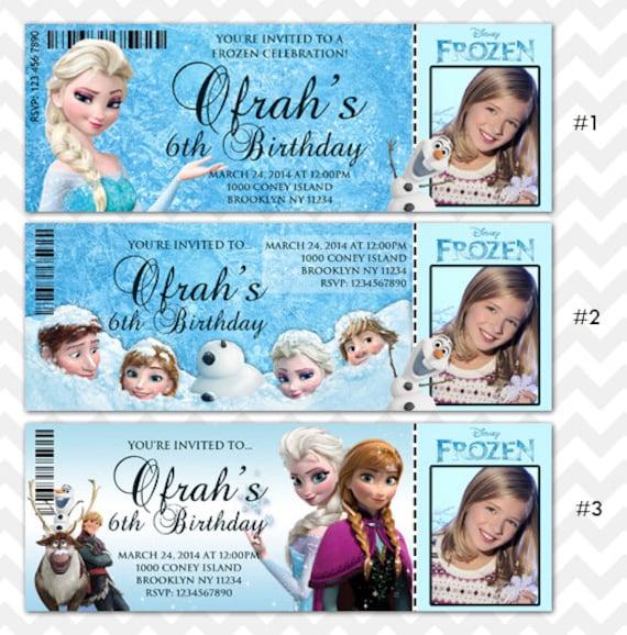 Custom Frozen Invitations as good invitations design
