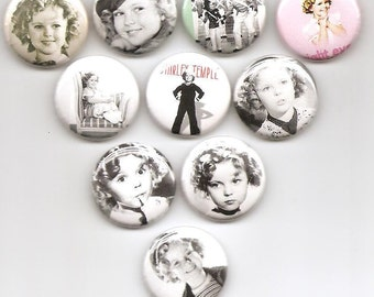 Shirley Temple Classic Set  of 10 Pins Button Badge Pinback