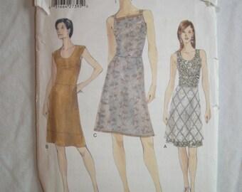 Vogue 9812 Pattern – Misses' Dress – Size 14, 16, 18