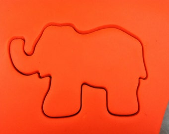 Elephant Cookie Cutter - SHARP EDGES - FAST Shipping - Choose Your Own Size!