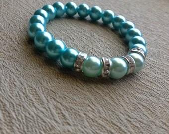 Blue and Swarovski Crystal Bracelet