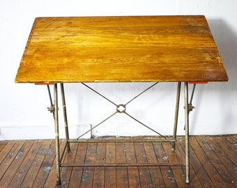 Vintage 1950's Drafting table