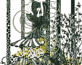 Black White and Gold Illustrated Gift Card - ' Miss Daisy'