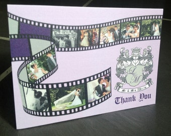 10 | Photo/Film Reel | Personalised Wedding Thank You Cards