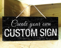 LONDON - Custom Signs in White, Brown, Blue, Navy, Black. Office Sign. Wedding Sign. Vintage. Rustic. Established Sign. Valentines Day Gift
