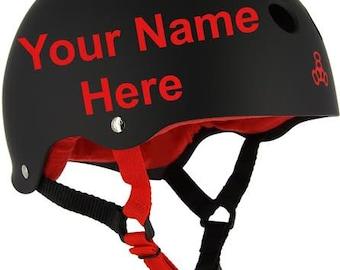 Custom Name & Number Roller Derby Helmet Sticker